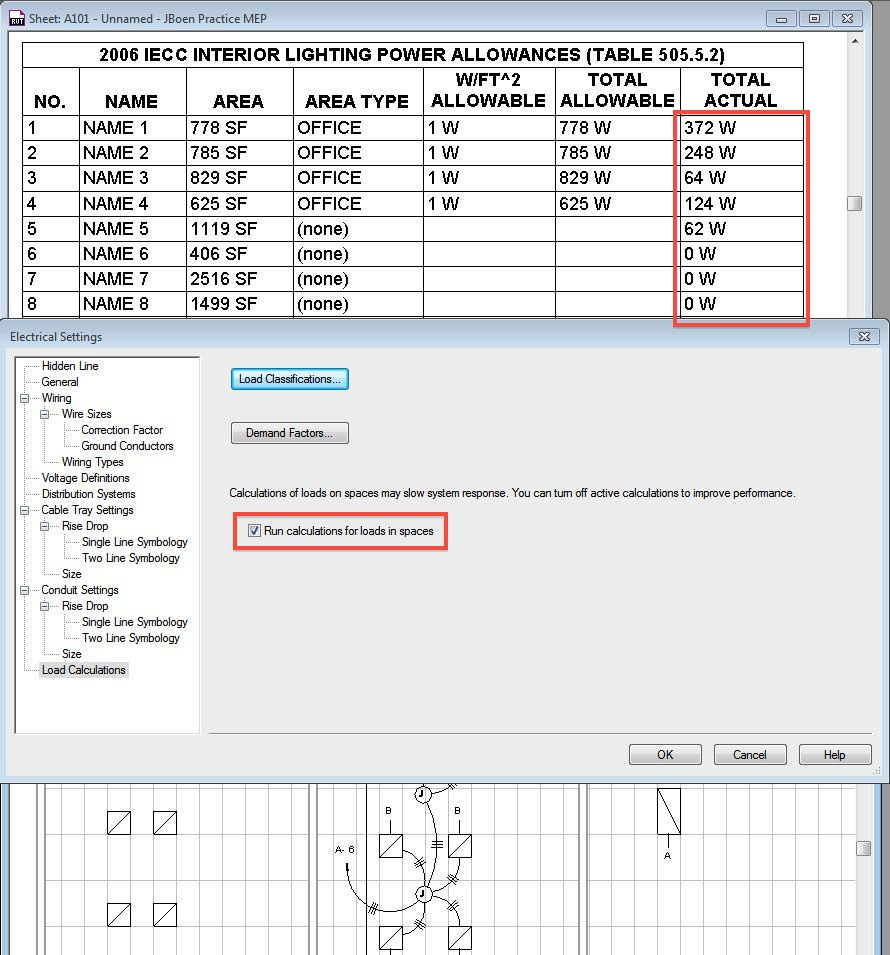 Revit Mep Electrical Parameter Output on frozen room designs