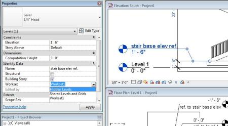 Revit-Hide Level Step 1