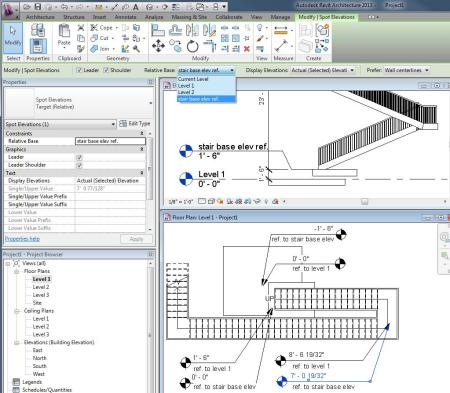 Revit-Relative Spot Elev